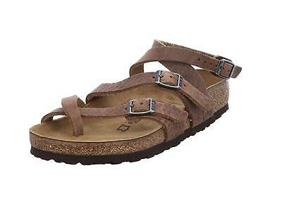 cc542a23023f Birkenstock Women s Seres 3-Strap Natural Leather Sandals Camberra Old  Tobacco