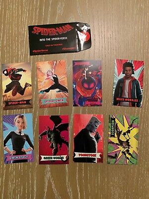 SPIDER-MAN INTO THE SPIDER-VERSE cards AMC theaters trading 8 cards w/ pack