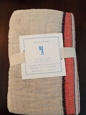Pottery Barn Kids Pacific Surf Standard Quilted Sham New