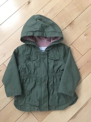 7d9fa8523a23 OLD NAVY BABY Girl Toddler Cargo Jacket Coat (18-24 Months) Green ...