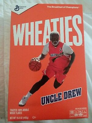 Wheaties Kyrie Irving Celtics Uncle Drew Movie Breakfast Cereal Box Exclusive