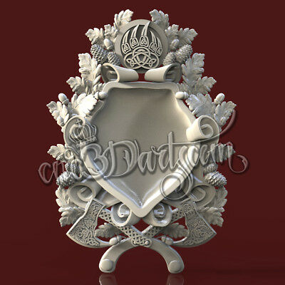 3D Model STL for CNC Router Artcam Aspire Hunting Trophies Celtic Cut3D Vcarve