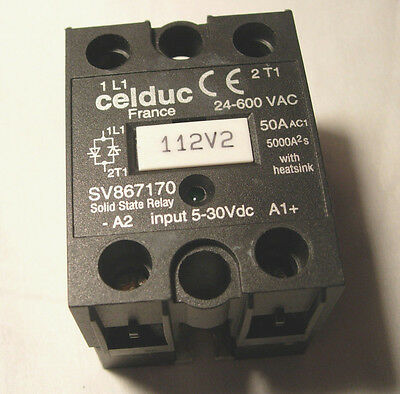 Celduc Solid State Relay 24-600 VAC 50 AC SV867170