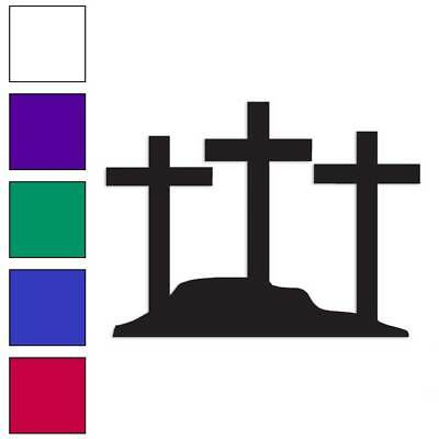Hill Three Crosses ebn809 Multiple Color /& Sizes Vinyl Decal Sticker