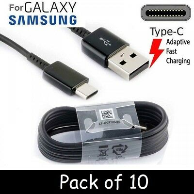 10 x Fast Charging Cable For Samsung Galaxy S8, S9, Plus Note 8 A8 2018 A5 USB C
