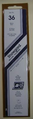 Showgard size 36 black hingeless stamp mount NEW unopened pack 1st quality 215mm