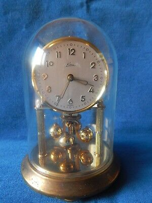 Vintage Wind Up Dome Kern Germany Mantle Clock S/R Old & Key