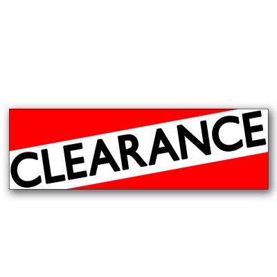 Clearance Vinyl Banner (Size Options)
