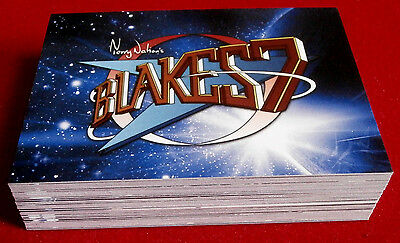 """BLAKE'S 7 - COMPLETE """"Blue Series"""" BASE SET of 54 CARDS - Unstoppable"""