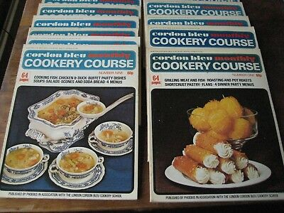 Vintage Cordon Bleu Cookery Course 1-18  Complete first Folder - Early 1970s