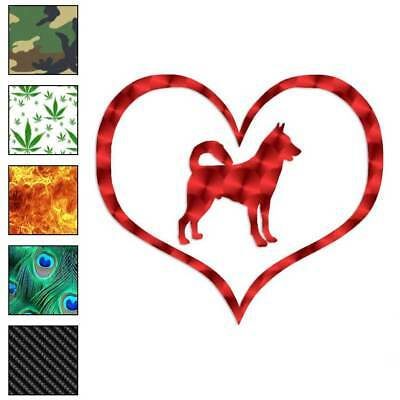 Love Canaan Dog Heart Decal Sticker Choose Color Size #1437