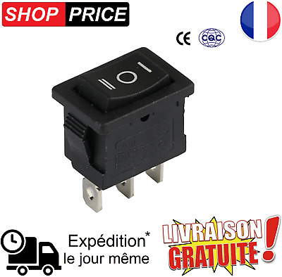 Interrupteur à bascule 3 broche - 3 positions ON / OFF / ON - 6A 250V / 10A 125V
