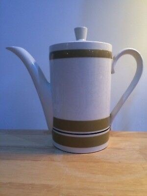 Vintage Sadler Coffee Pot Retro Tableware 1970s Cream & Brown