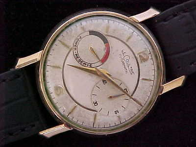 Vintage Lecoultre Futurematic Back Set Reserve Dial Jaeger Lecoultre Movement