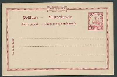 Germany Caroline Islands Ship Unused Postal Stationery Nice!