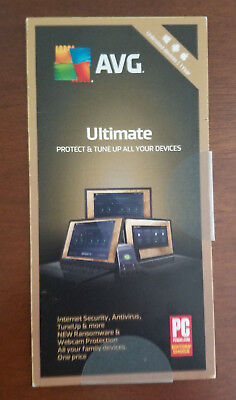 AVG ULTIMATE 2019 UNLIMITED DEVICES 1 YR Antivirus Internet Security Ships 3 Day