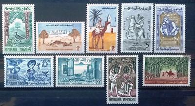 TUNISIA -  1959 - Living in Tunisia - Lot of 9 MNH stamps