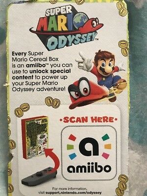 Super Mario Odyssey Cereal Nintendo Switch Amiibo Only - FAST SHIP TODAY!!