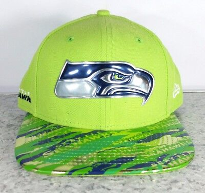... coupon for nwot nfl seattle seahawks new era 9fifty on field color rush  snap back hat e5af023f7