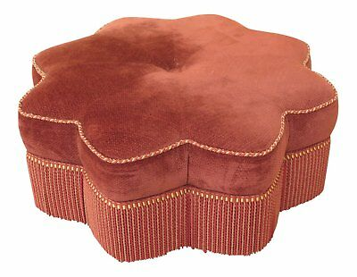 F46580EC: PEARSON Star Shaped Decorator Upholstered Ottoman