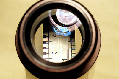 FAST MICROSCOPE 10X COMPARATOR LENS 40mm-39mm SCREW MOUNT LARGE FORMAT