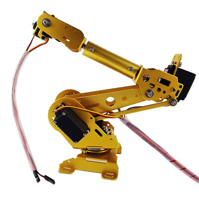 Metal S6 6-DOF Arm Mechanical Robotic Arm Clamp Claw Mount Kit With Servos