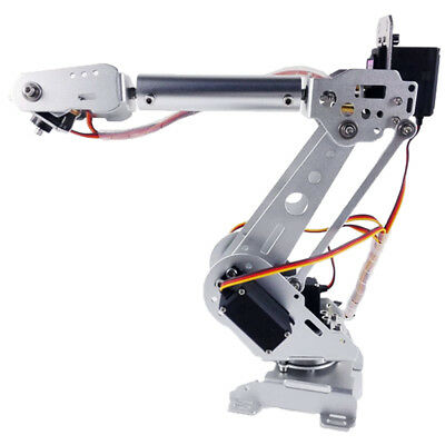 Metal 6-DOF Arm Mechanical Robotic Arm Clamp Claw Mount Kit With Servos