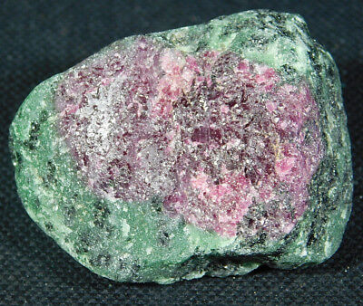 A 100% Natural Red RUBY Crystal In a Green Zoisite Matrix! Tanzania 66.7gr e