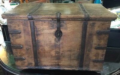 Antique Strong Box with Iron straps
