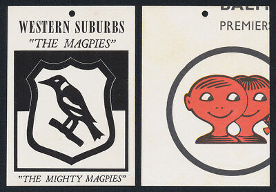 Western Suburbs The Magpies 1968 Scanlens Rugby League Football Team Crest Card