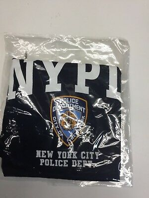 f1bfe6568 NYPD KIDS SHORT Sleeve Screen Print Police Back T-shirt Navy Yellow ...