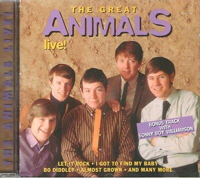 The Great Animals Live by THE ANIMALS (CD, 1998, Goldies) ~ NEW; SEALED!!!