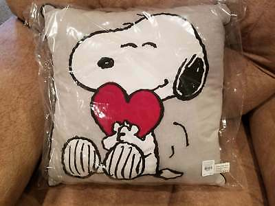 NEW Pottery Barn Kids PEANUTS Valentines Snoopy Pillow
