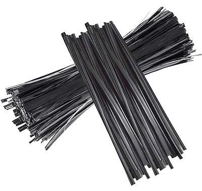 """Twist Ties 1000 Pcs 5"""" Black Twist Ties for Bread Candy Bags Party FREE SHIPPING"""