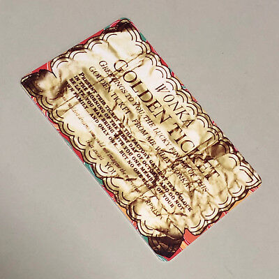 Willy Wonka & The Chocolate Factory Pusher Arcade Card - Golden Ticket
