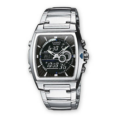 Casio EFA-120D-1A Edifice Mens 100M Stainless Steel Dress Watch Thermometer NEW