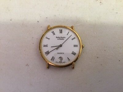 Vintage Bailey Banks & Biddle Jewelers Wrist Watch Date Time Quartz Swiss Made