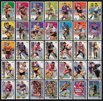 2000 / 01 Select NRL 4 Sets of Inserts Cards: Club,Team, Accolades & Honour Roll
