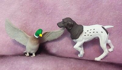 German Shorthaired Pointer Figure with Mallard Duck - Hunting Dog Toy