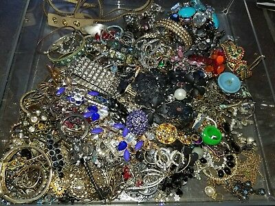 7 Lbs Lot Broken Rhinestone ONLY Jewely Craft Harvest Wear Repair Watches