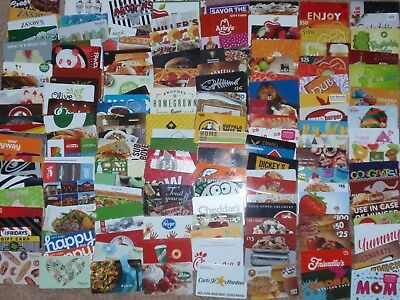 Collectible Gift Card - LOT of 165 Diff Cards - FOOD - No Value - Each Pictured