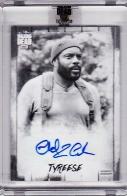 2018 Topps Amc The Walking Dead Chad Coleman As Tyreese Silver Auto 3/5! Ssp Pd