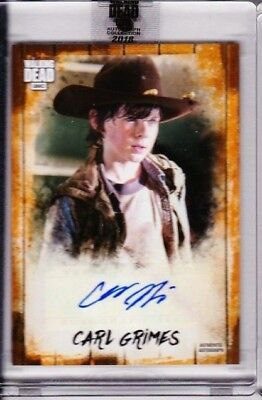 2018 Topps Amc Walking Chandler Riggs As Carl Grimes Auto 12/50 Pd