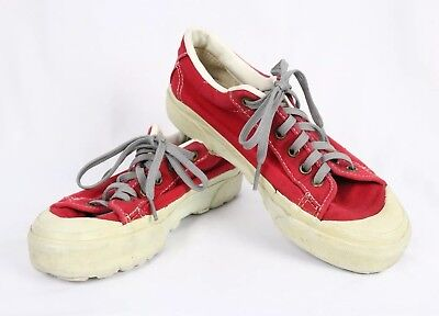 Vintage Vans Made In Usa Red Shoes Size Mens 5.5 Womens 7.5