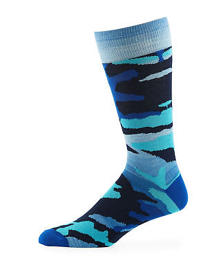 Neiman Marcus Men's Space-Dyed Camo Socks  ($30) w/tax   (Blue, Green)  One Size