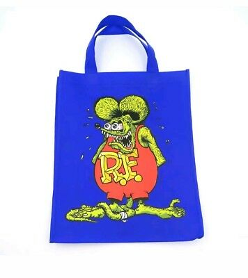 Double-Sided Rat Fink Big Daddy Yellow Ed Roth Vintage Classic Reusable Bags