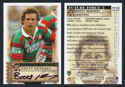 Brett Kearney AUTHENTIC SIGNATURE 2003 Select NRL FF42 209 of 570