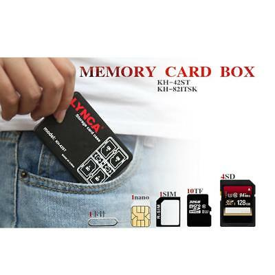 Memory Card Storage Case Multiple Holder Multi-Slot Micro SD TF SIM Nano Box