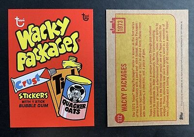 2018 Topps Wacky Packages Limited Printing 80th Anniversary Card