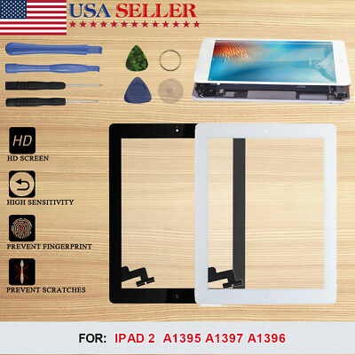 Touch Screen Glass Digitizer Replacement For iPad 2 A1395 A1397 A1396 With Tools
